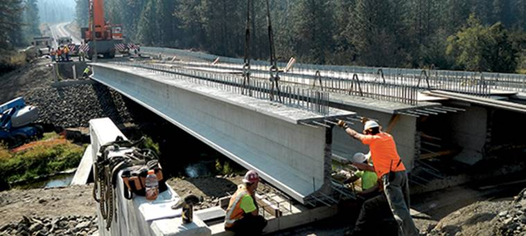 136.8-foot Super-Girders Used to Replace Washington's Miles Creston Bridge