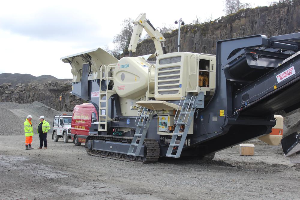 The Metso Lokotrack® LT120(TM) waiting to get deployed on site and prove its capabilities.