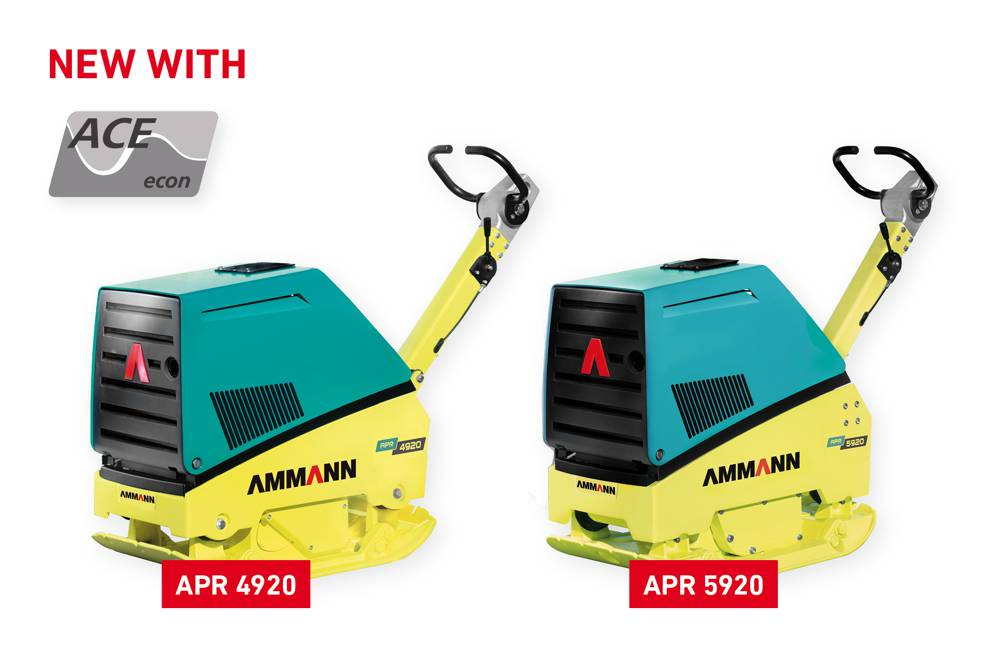 APR 4920 and APR 5920 are now available with the Ammann ACEecon. Intelligent compaction for your vibratory plate.