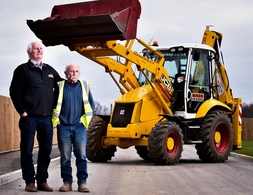 One of the UK's oldest digger drivers is turning heads on building sites after his boss ordered him a brand new limited edition JCB to mark his 70th birthday