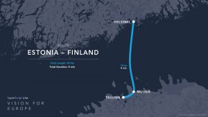 Hyperloop One route Estonia / Finland
