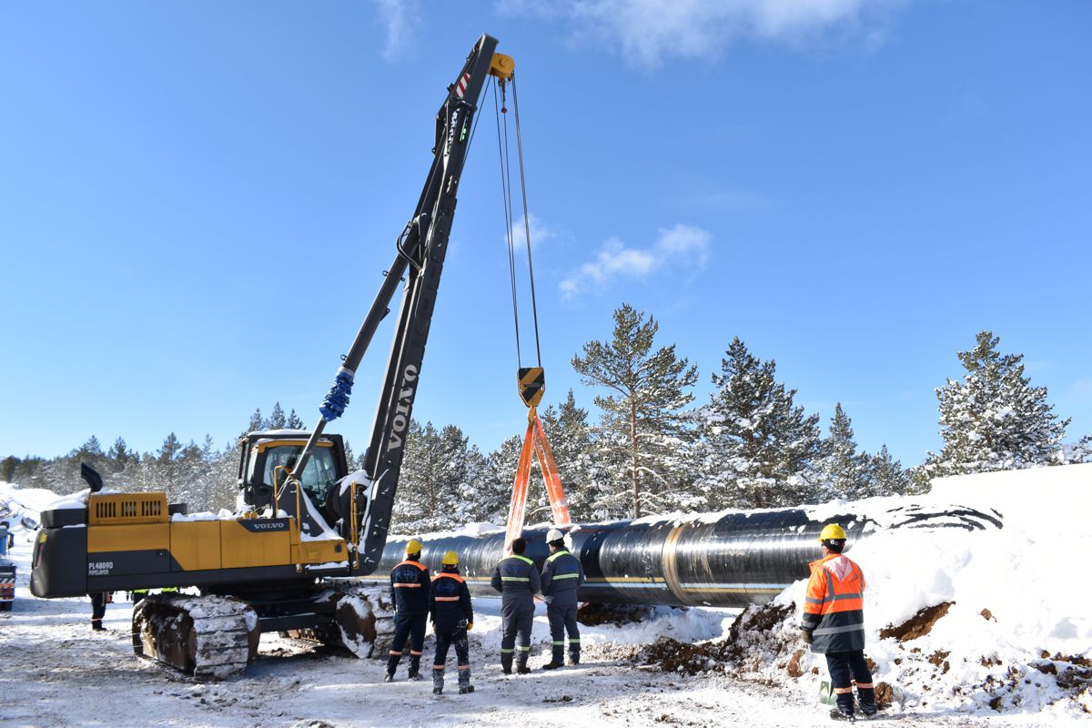 Trans Anatolian Natural Gas Pipeline relies on Volvo Rotating Pipelayers