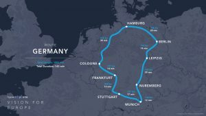 Hyperloop One route Germany