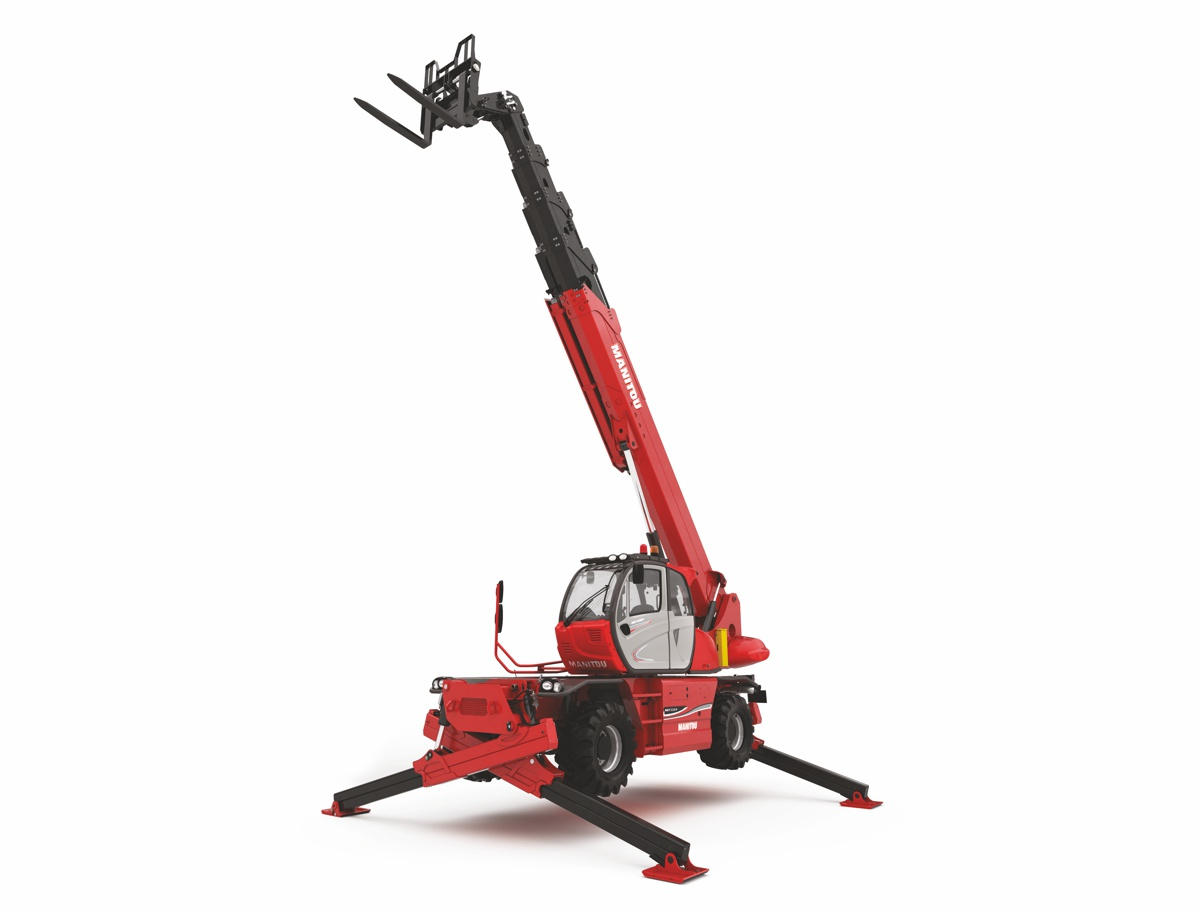 Manitou unveils two new rotating telehandlers, the MRT 3050 and MRT 2470