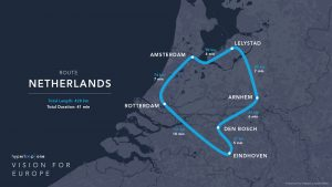 Hyperloop One route Netherlands