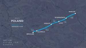 Hyperloop One route Poland