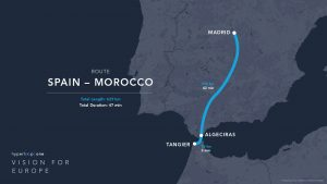 Hyperloop One route Spain-Morocco