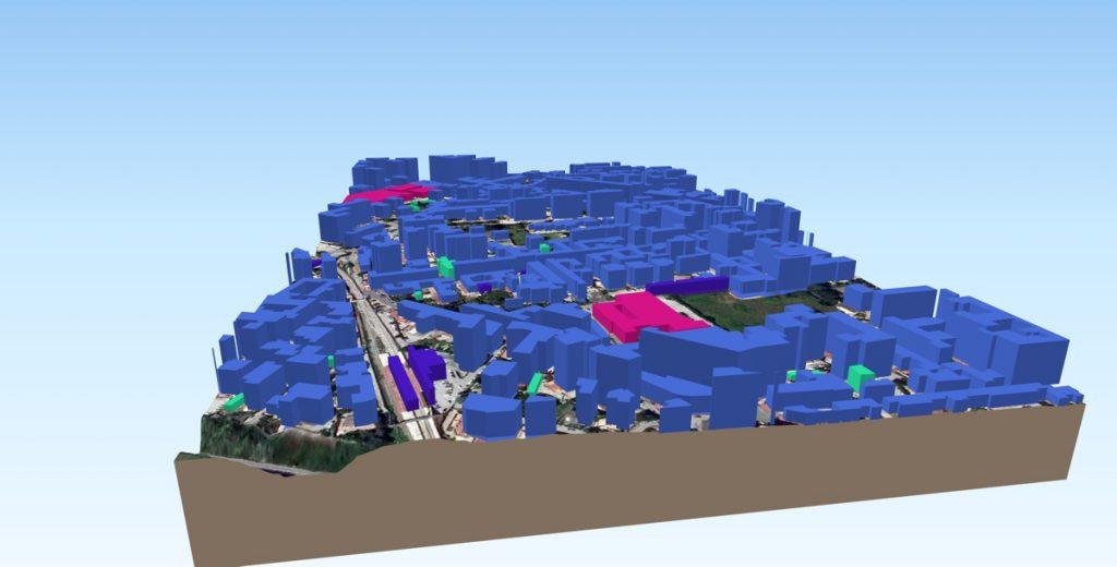 Vista 3D di unarea urbana by Massimiliano Moraca