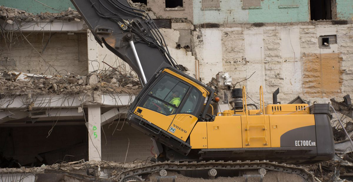 Rachel Contracting relies on Volvo excavators for tactical takedowns