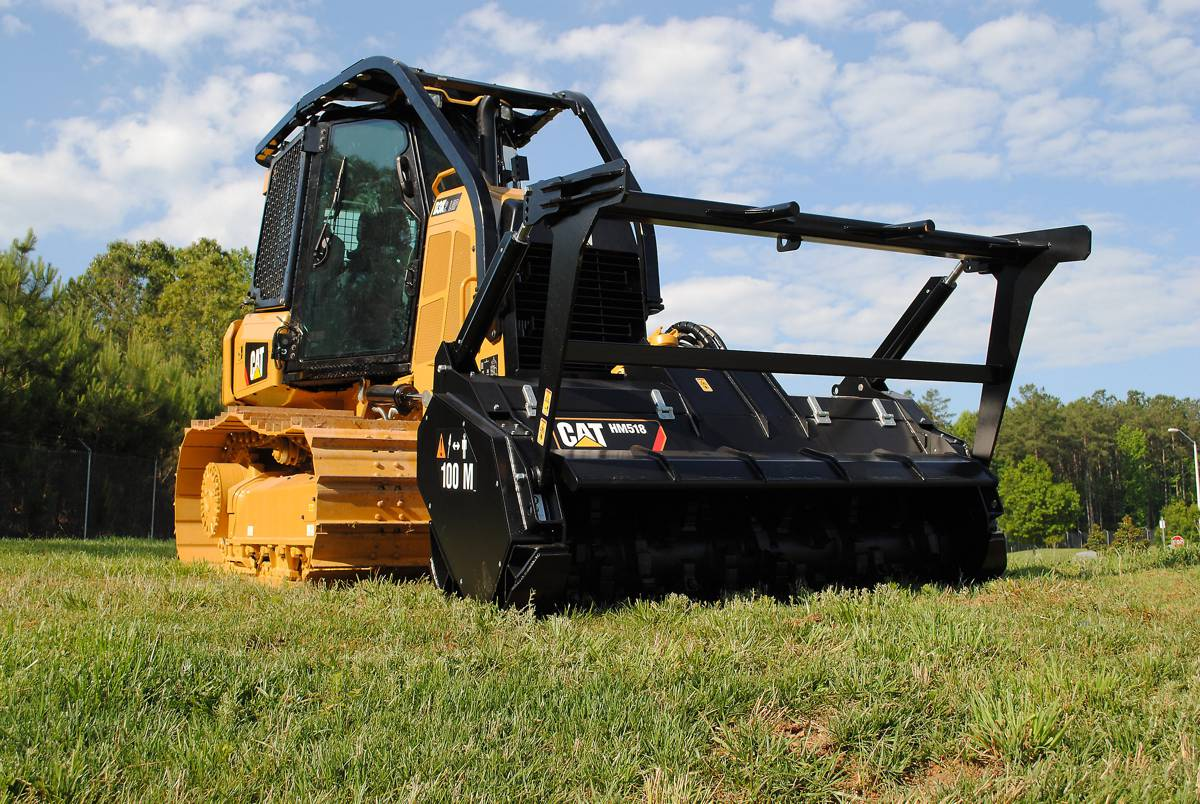 New Cat D3K2 Mulcher hybrid combines the solid Cat D3K2 Dozer with the rugged Cat HM518 Mulcher