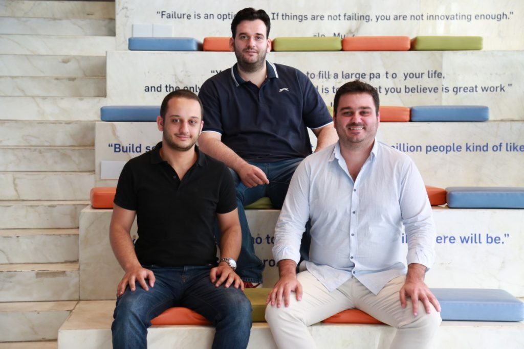 Handiss Founders (left to right - Marc Khoury, Noureddine Korek, Ramzi Jreidini)