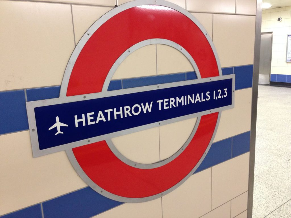 Heathrow Tube Sign by Andrew Nash