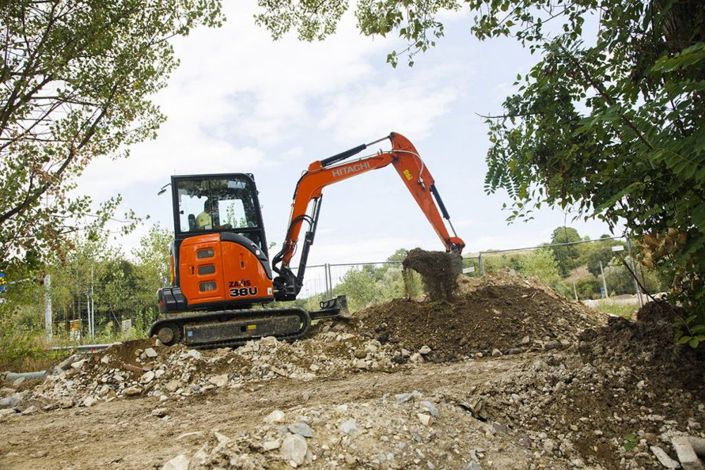 The versatile mini excavator is ideal for the work required at the sanctuary