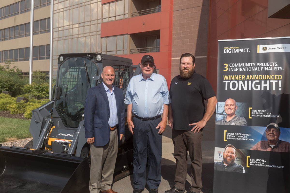 Building instructor wins John Deere 333G compact track loader in Small Machines. Big Impact. contest