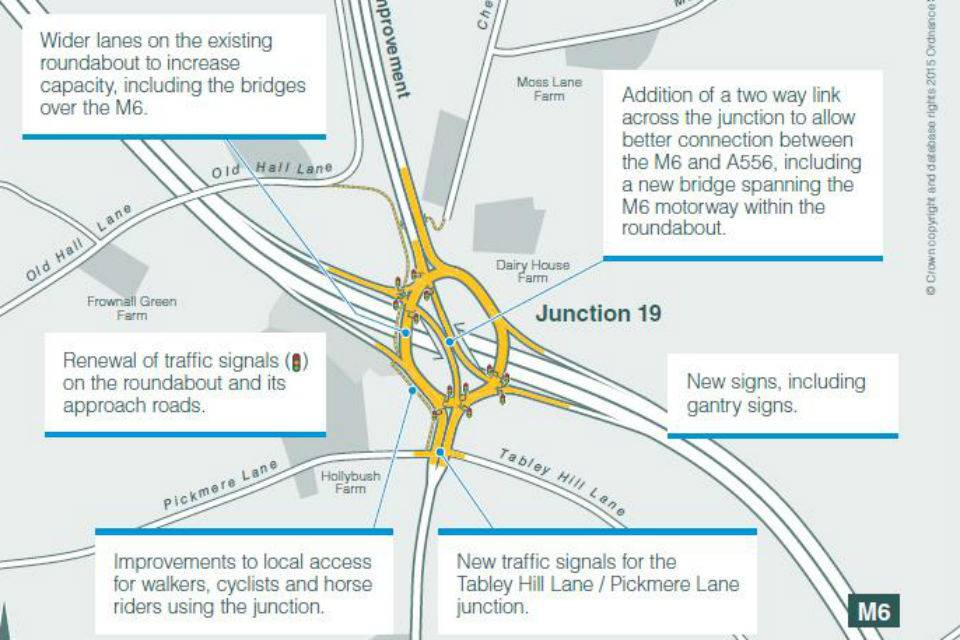 M6 Knutsford Roundabout Upgrade Map