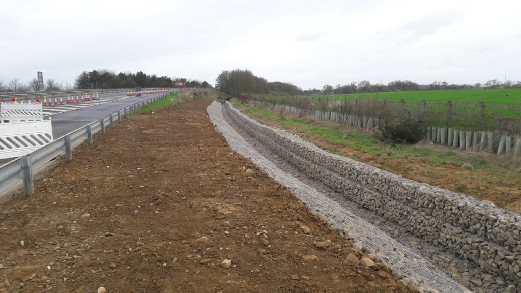 McCann completes £220,000 of significant drainage works on the A64 Brambling Fields Junction as principal contractor