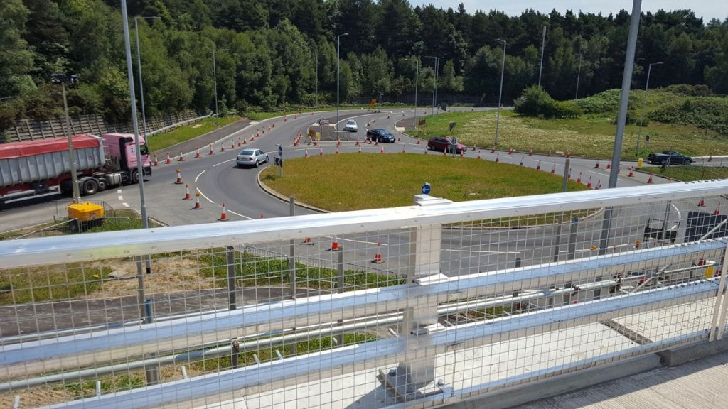 The new flyover at the Longfield Road junction will remove the need for drivers continuing on the A21 to stop at the old Longfield roundabout