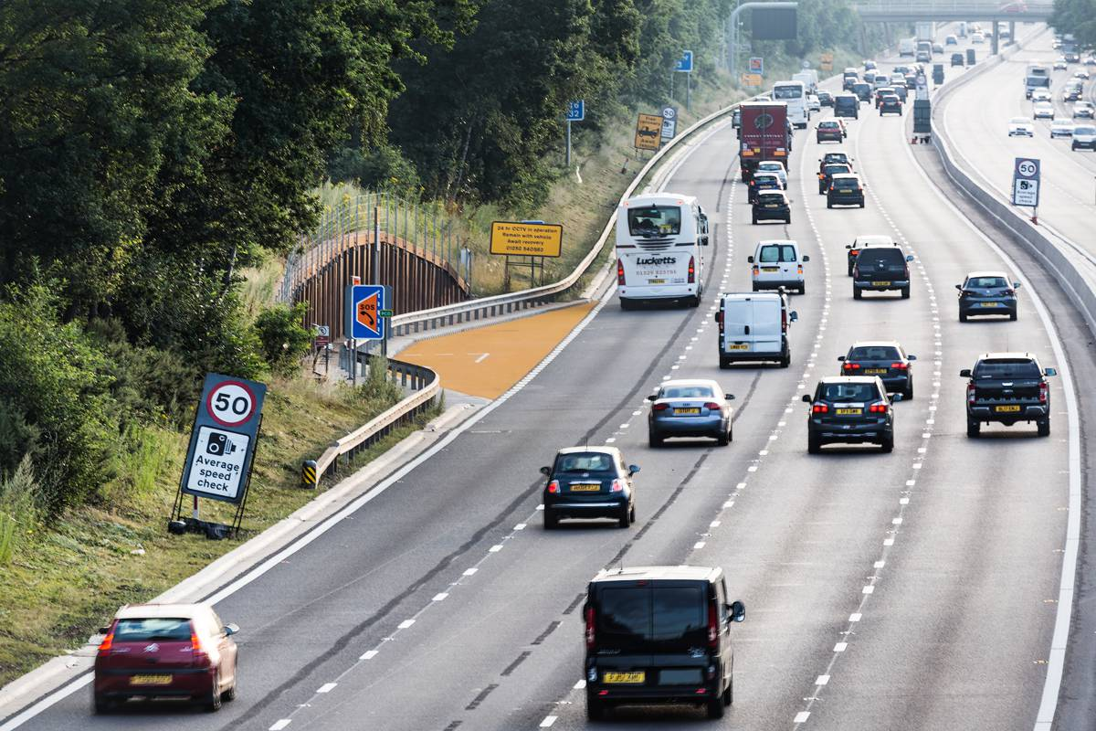 M3 Motorway in England gets first 'Orange' Smart Motorway Emergency Area