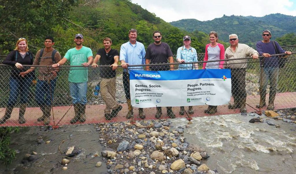 Parsons partners with Bridges to Prosperity to construct a footbridge in Panama