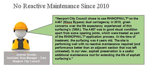 Newport City Council chose RHiNOPHALT for the A467