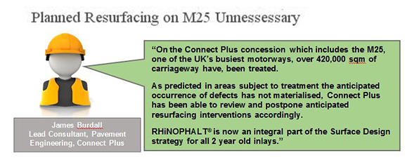 RHiNOPHALT is an integral part of the M25 strategy