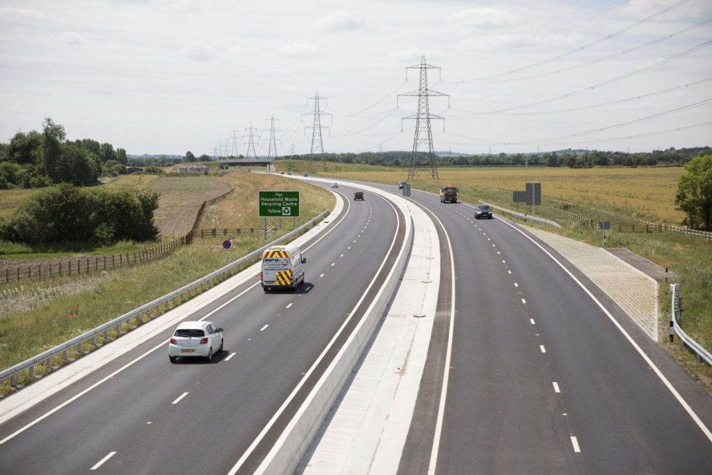 The new A5-M1 Link road opened to traffic on 11 May 2017.