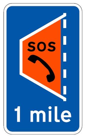 Smart Motorway Orange Emergency Area Sign