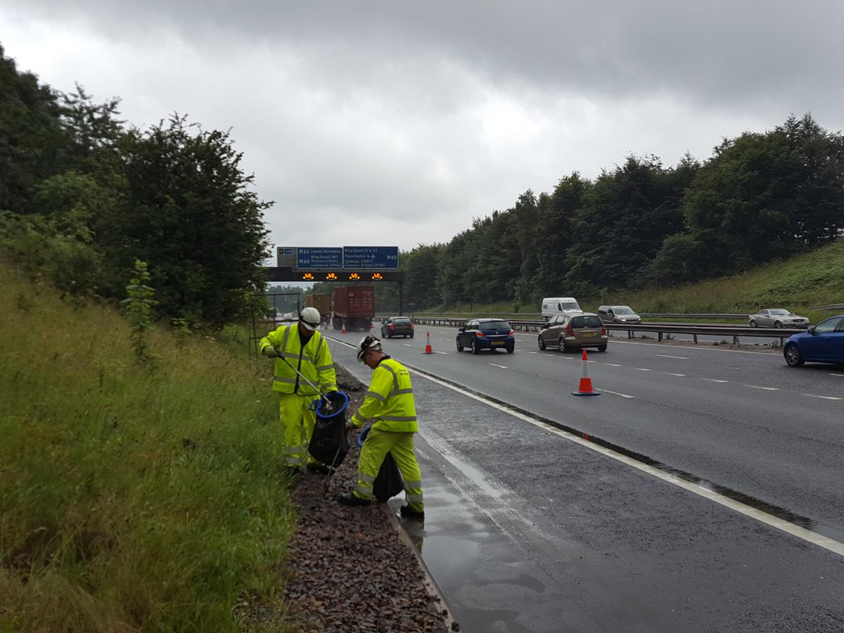 UK's Motorway litter droppers warned not to put lives at risk