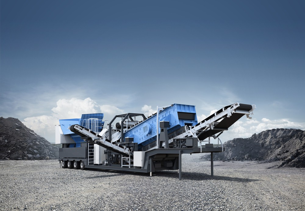 The MBGR 2000 mobile granulator from Benninghoven breaks asphalt into its constituent parts without destroying the original grain structure, handling blocks with an edge length of up to 1.8 m.