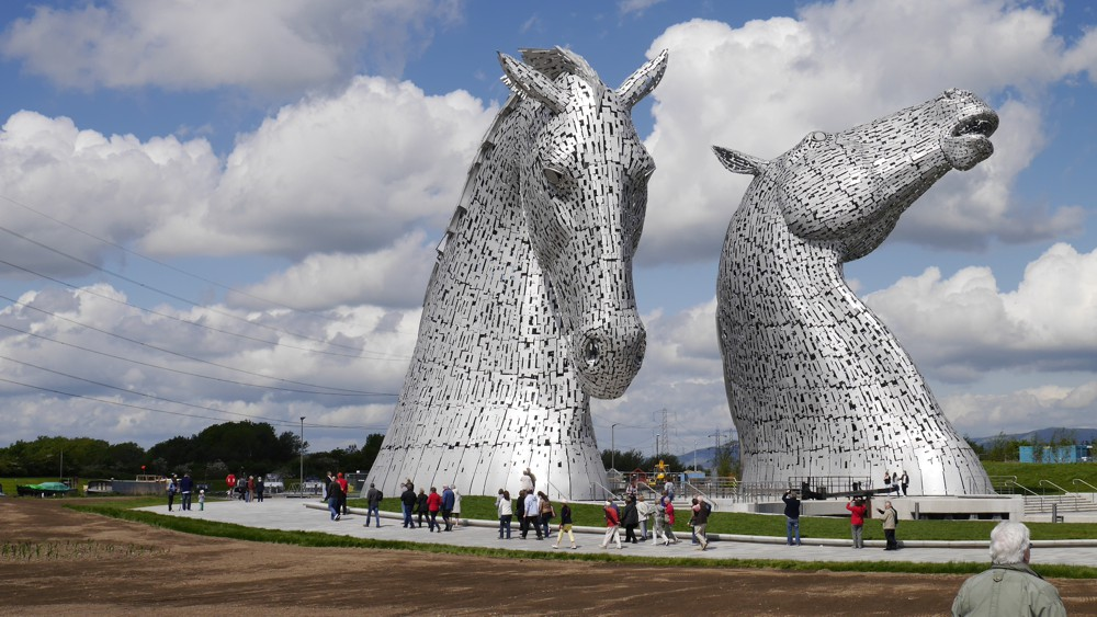 The massive Kelpies sculpture in Falkirk - Photo by Andy Reid