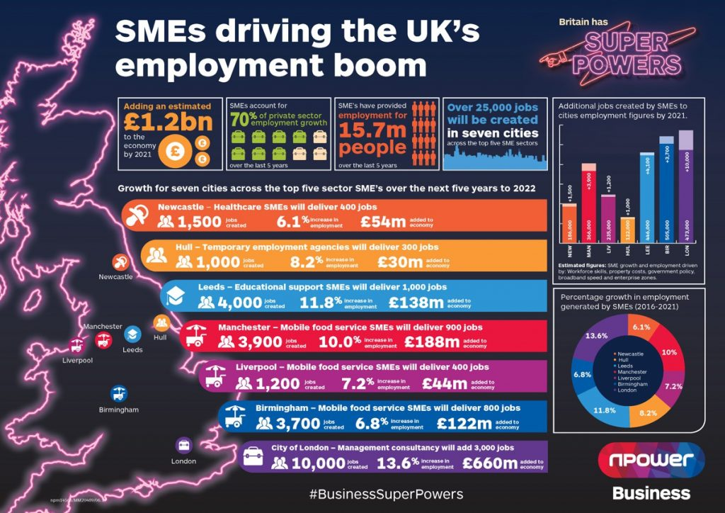 SME Employment Boom Infographic
