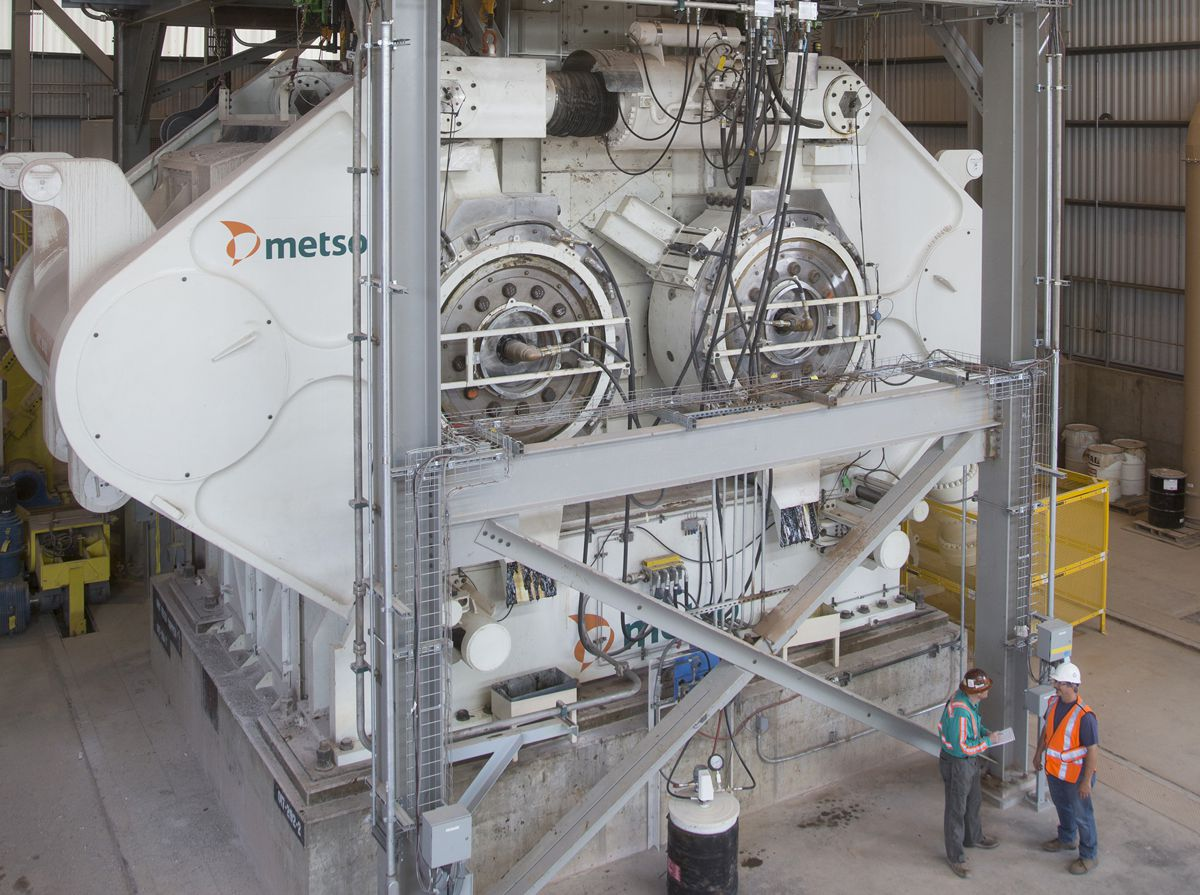 Metso celebrates Copper Mine's 100 million tons of crushed ore