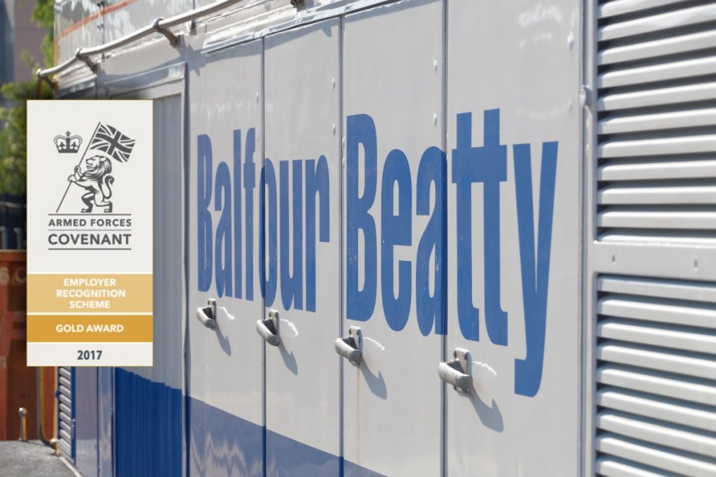 Balfour Beatty recognised for outstanding support to the Armed Forces community