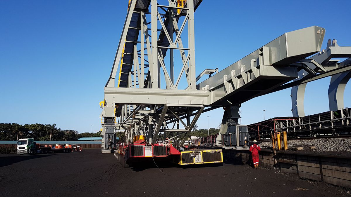 ALE transporting one of the components inside Richards Bay Coal Terminal, South Africa.