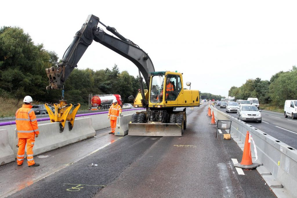 Cheshire's new smart motorway safety barrier nears completion