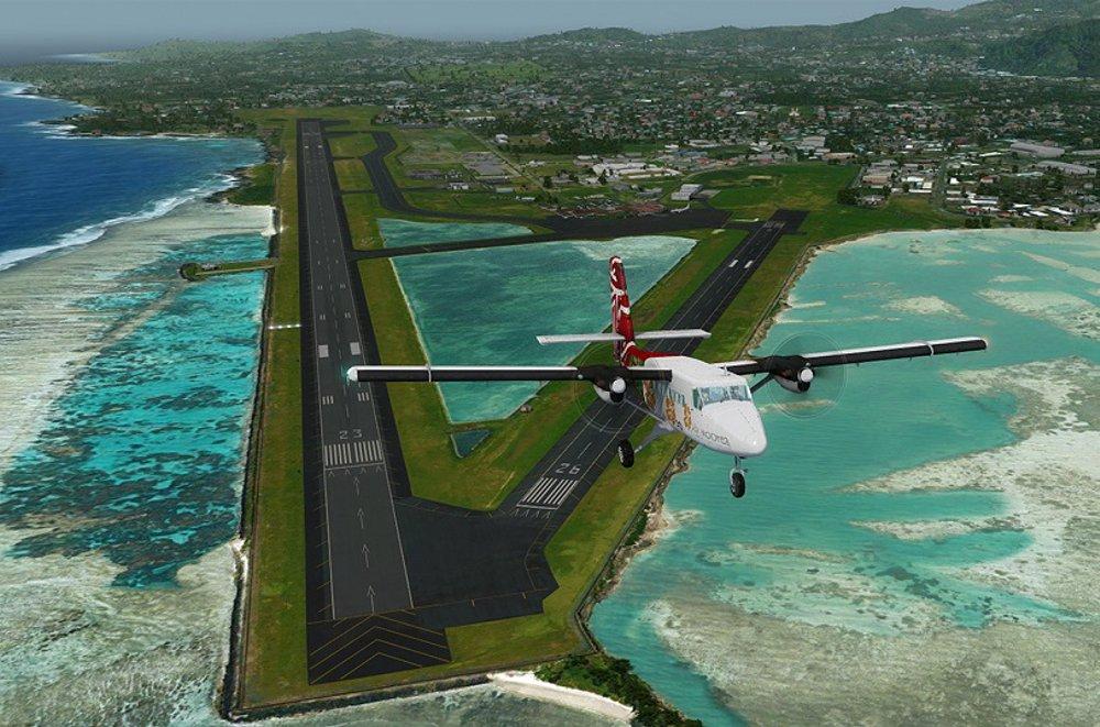 Pago Pago Runway in American Samoa