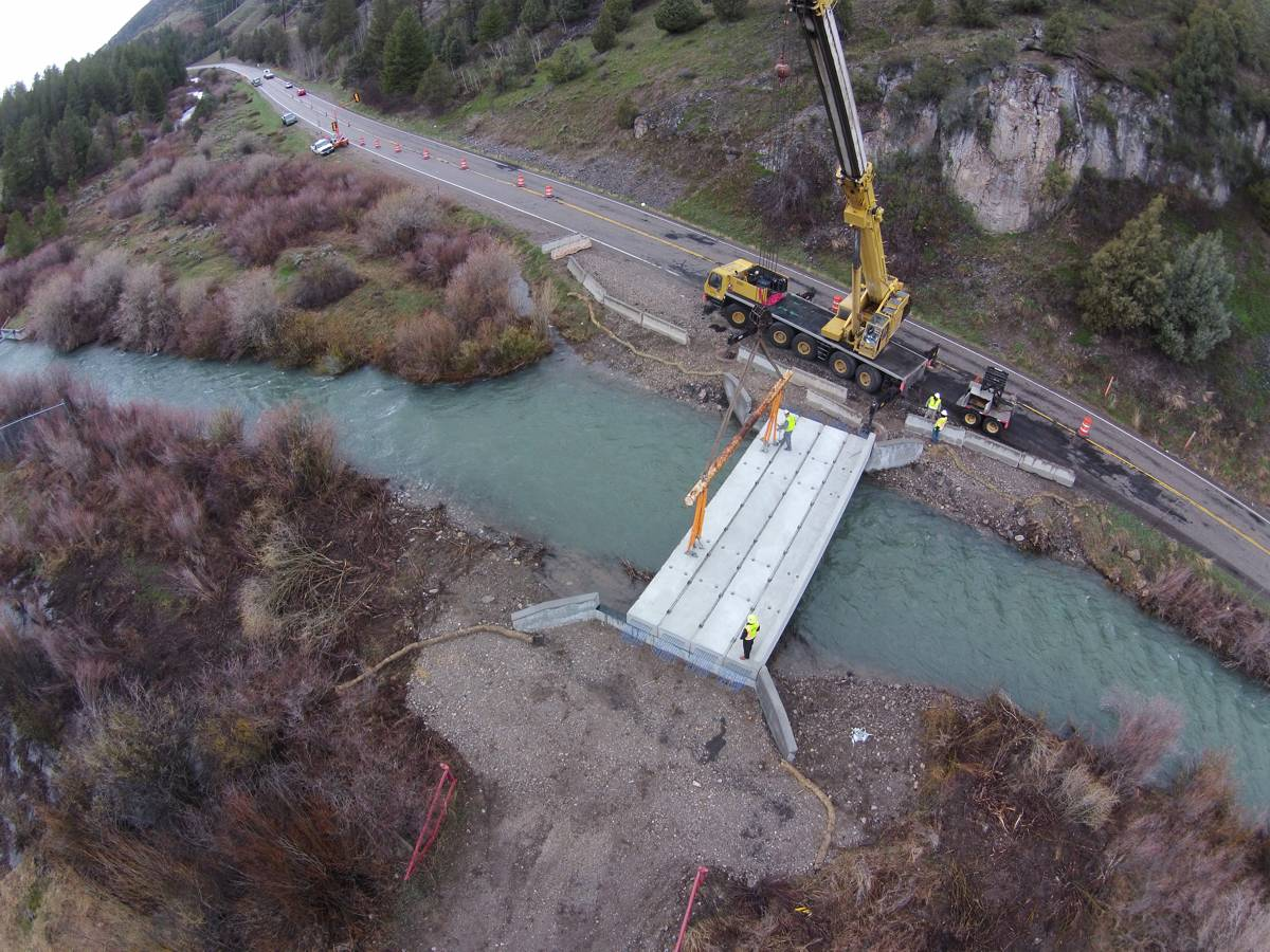 Oldcastle Precast produce post-tensioned bridge slabs for Pine Basin Bridge replacement