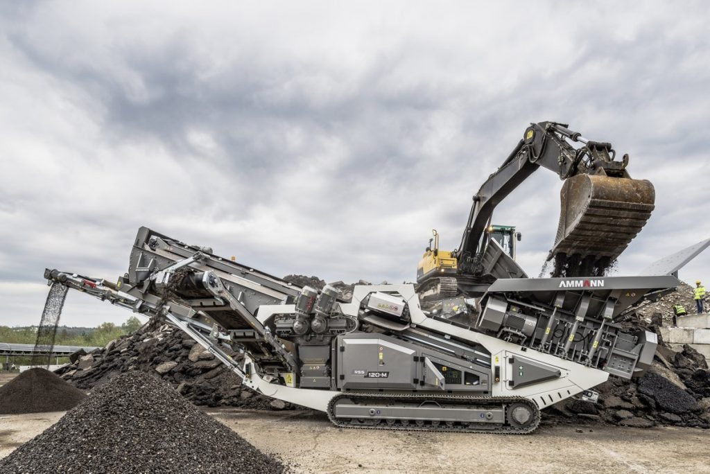 Ammann launches the RSS 120-M Shredder, Iron Separator and Screener 3-in-1 Machine