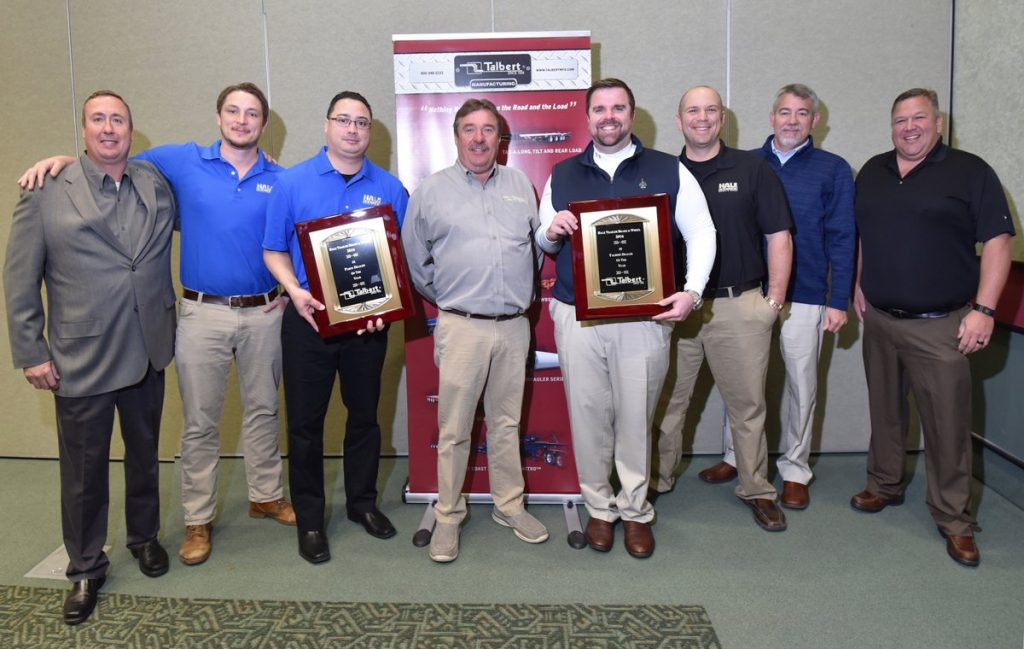 Talbert Manufacturing names its Top 10 dealers of 2016