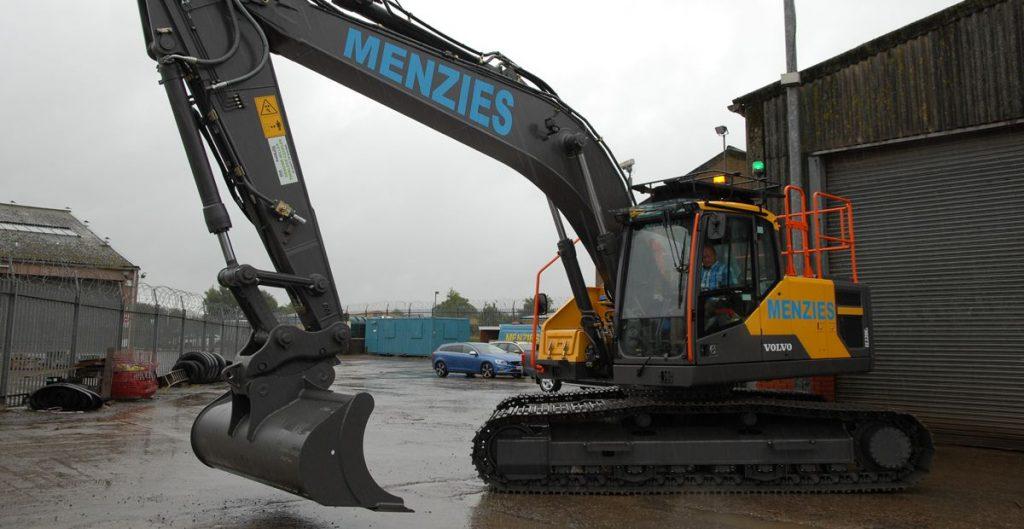 Thomas Menzies new EC220E ready to go to work