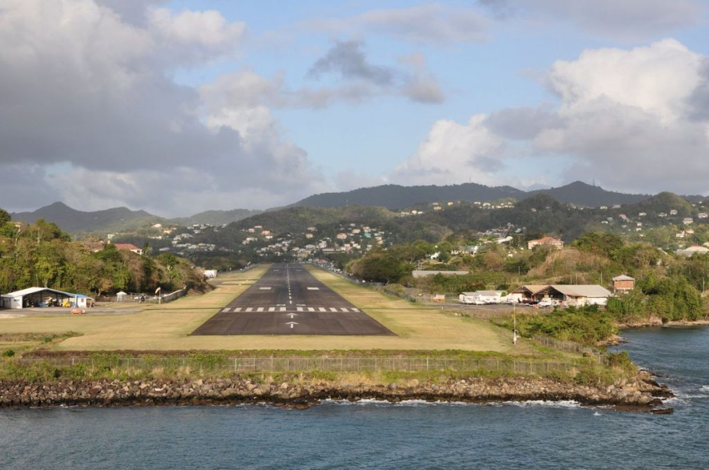 Castries Airport Photo by Robert Cutts