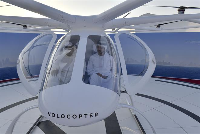 UAE embraces the future with the world's first concept flight of the Autonomous Air Taxi (Volocopter)