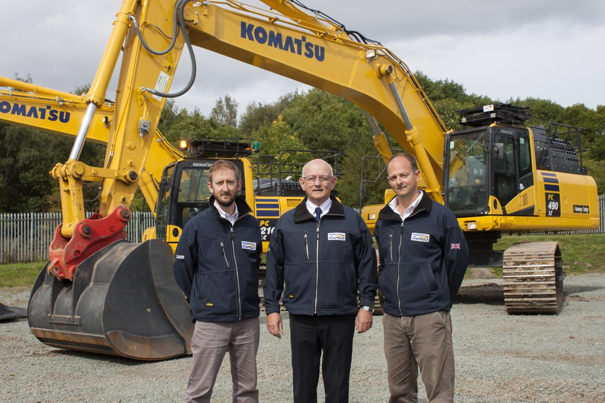 RIDGWAY Rentals takes delivery of £9M worth of new Komatsu Machines