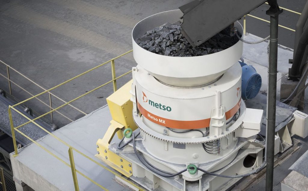 Metso's new MX cone crusher combines for the first-time piston and rotating bowl adjusting technologies previously only available separately on cone crushers.