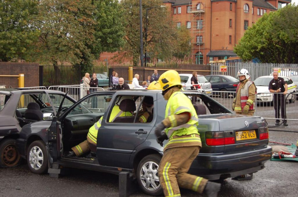 Car Crash Rescue - Photo by Ross Goodman