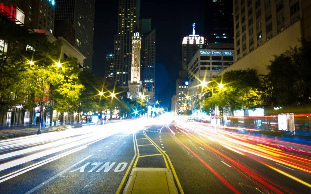 Michigan Avenue Street Lights - Photo by Nan Palmero