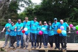 Parsons helpsBridges to Prosperity construct a footbridge in Panama