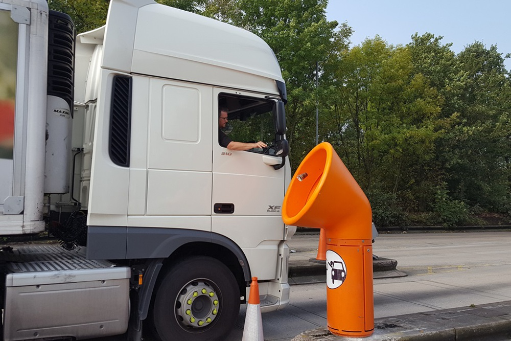 Giant funnel bins to tackle North West motorway litter