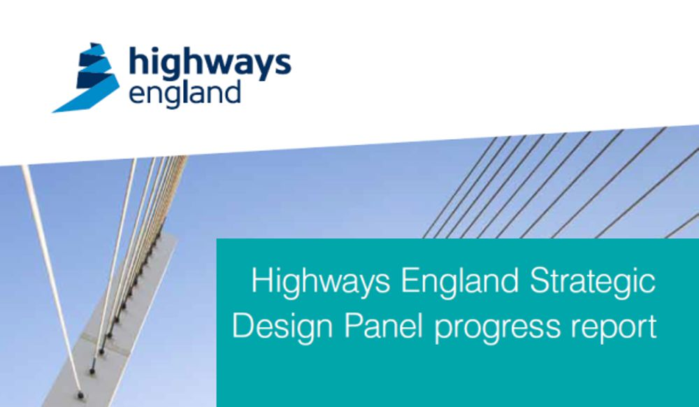 Highways England Strategic Design Panel vision and progress report published