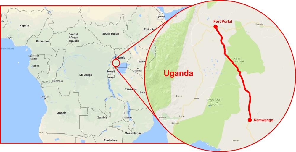 Uganda Project Map